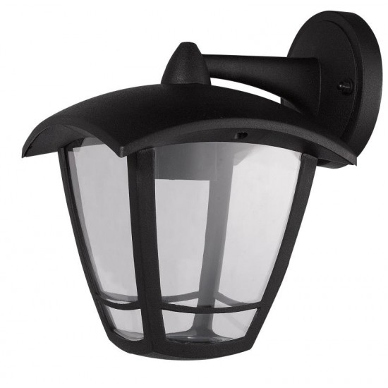 External Black Wall Lantern Light Top Arm IP54 Waterproof
