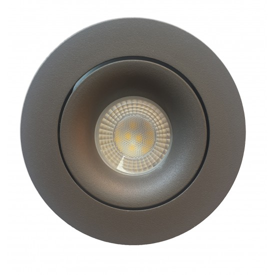 GU10 Tilt Ceiling Recessed Spotlight Downlight Matt Grey Finish