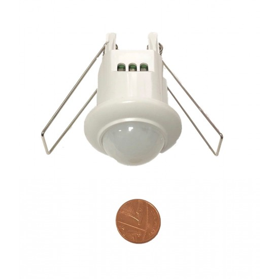 Mini Motion Sensor Detector Ceiling Light Switch Recessed 360°