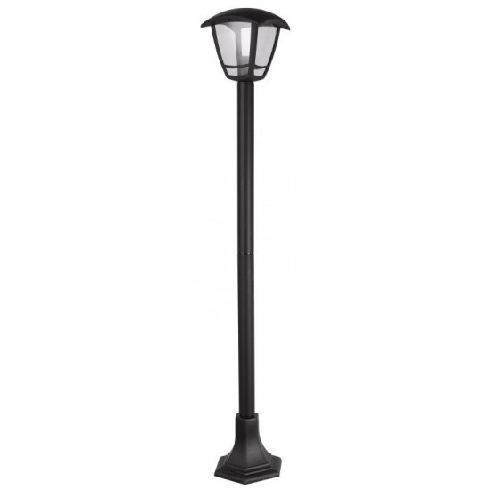 External Black Garden Walkway Lantern 1100mm Pole Lamp Light IP54 Waterproof