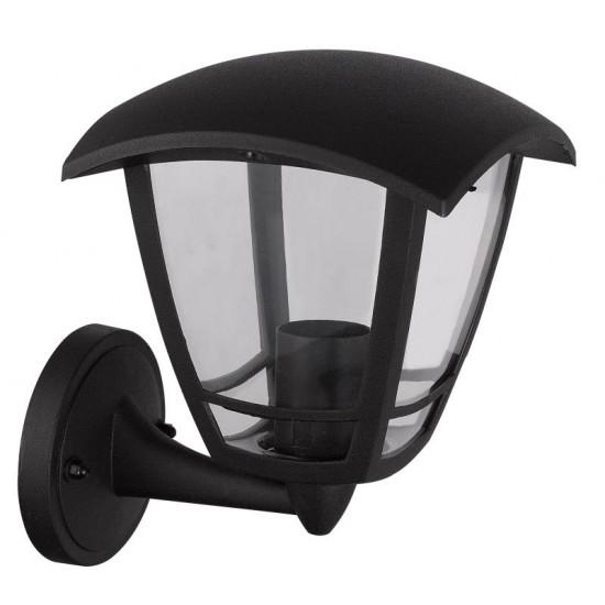 External Black Wall Lantern Light Bottom Arm IP54 Waterproof