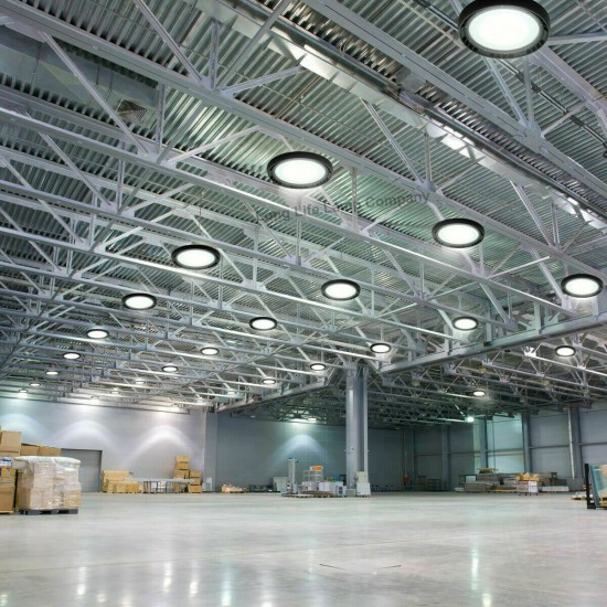 LED High Bay Light UFO Style IP65 Outdoor Commercial Warehouse Disc Light 250W
