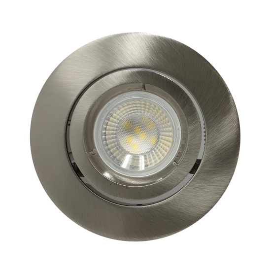 Large Scoop GU10 Ceiling Recessed Tilt Downlight Spotlight Satin