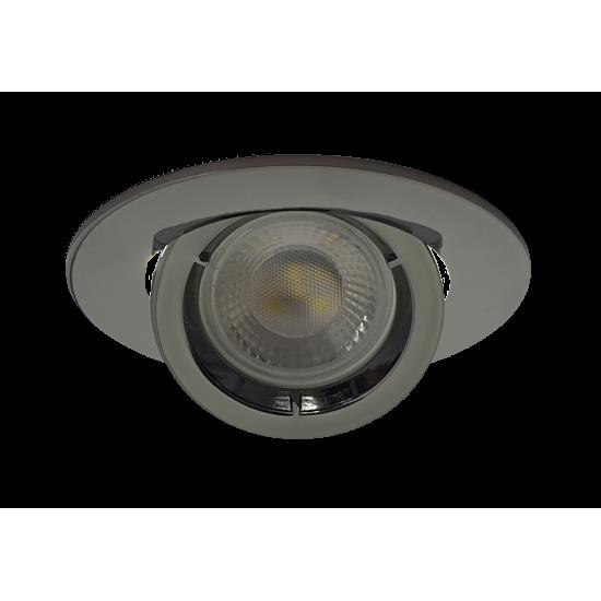Large Scoop GU10 Ceiling Recessed Tilt Downlight Spotlight Black Chrome