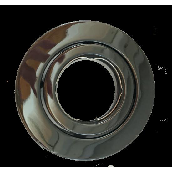 Tiltable GU10 Ceiling Spotlight Downlight Black Chrome  Finish UKEW®