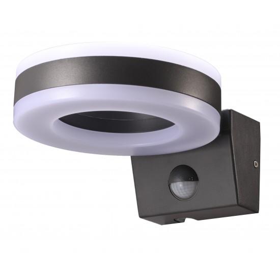IP65 External 20W LED Up Down Wall Circular Ring PIR Motion Light Cool White 6000K