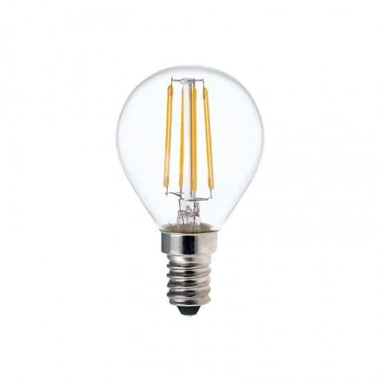 4W Led Filament Vintage G45 Golfball Bulb E14 Fitment 470 High Lumen