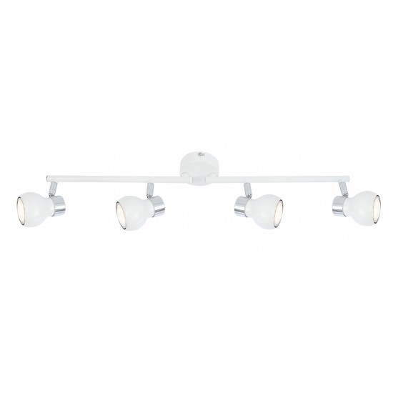 Modern Interior 4 way globe ceiling straight bar light spotlights fitting LED
