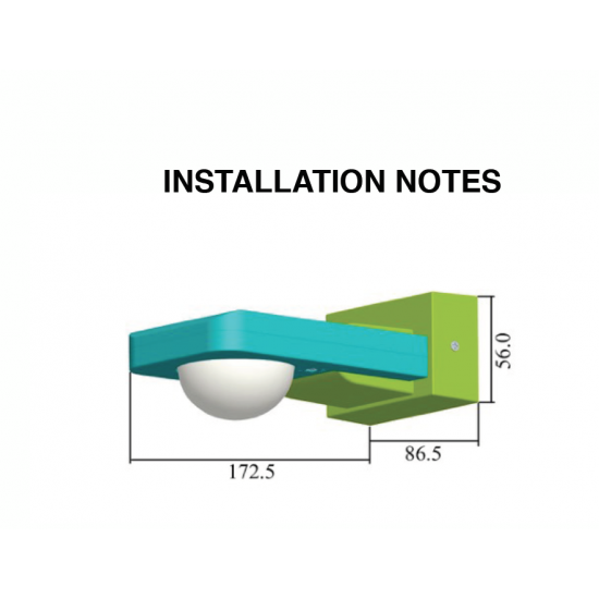 Outdoor Manual Override IP65 Sensor Ceiling or Wall mountable for LED lighting 1000W