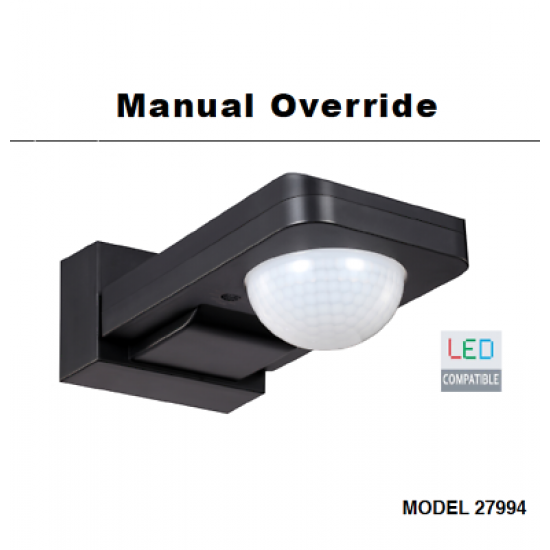 Manual Override IP65 sensor ceiling or wall mountable for or LED lighting