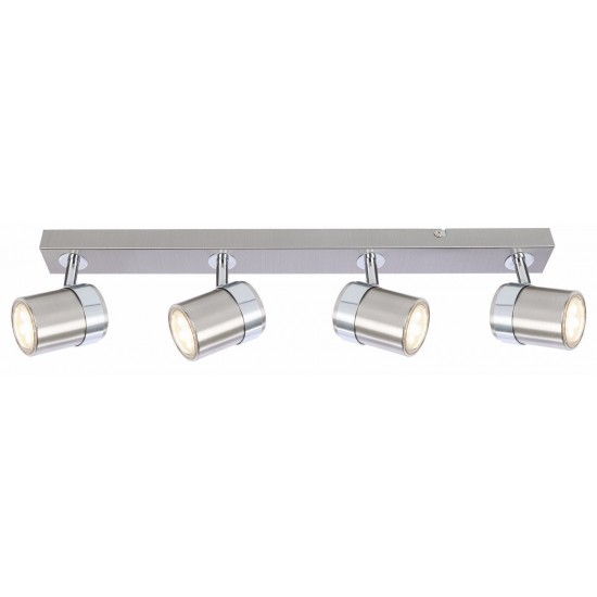 Modern Interior 4 Way GU10y Ceiling Straight Bar Light Spotlights Fitting LED