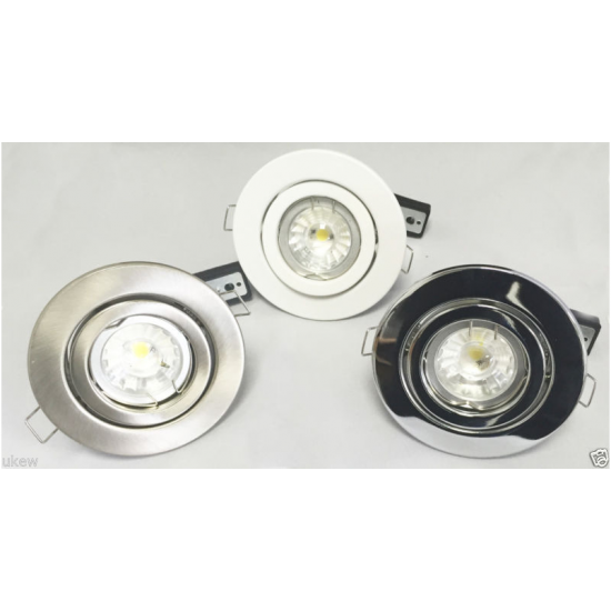 GU10 MAINS 240V DOWNLIGHTS TILT BEAM CEILING SPOTLIGHT LIGHTS HALOGEN OR LED