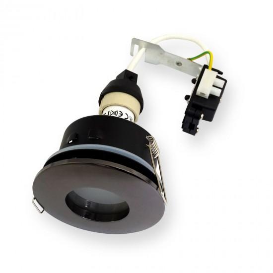 Waterproof Bathroom Shower Downlights IP44 GU10 Black chrome Lights