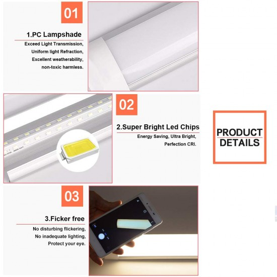 Bright White 6500K 2ft 3ft 4ft Slimline LED Linear Batten Ceiling Surface Light
