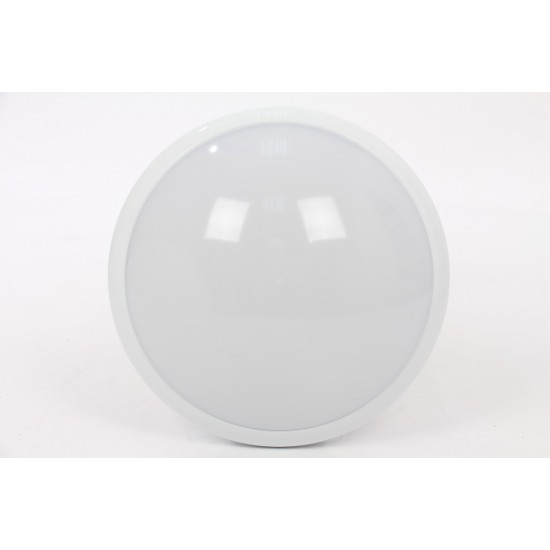 White IP44 ES E27 Ceiling or Wall Mount  Bulkhead Microwave Sensor Light