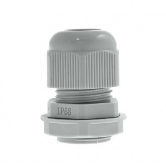 10 Pack Nylon Gland 20MM Grey With Locknut IP68