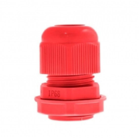 10 Pack Nylon Gland 20MM Red With Locknuts IP68
