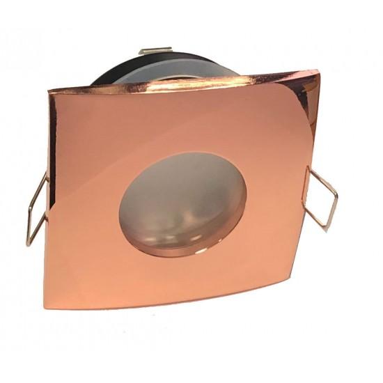 Bathroom IP65 Square GU10 Downlight Spotlight Rose Gold Finish