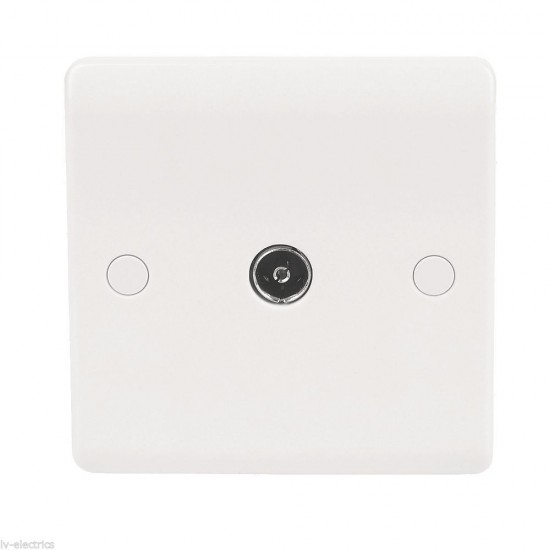 Single satellite F-type outlet wall plate plug socket