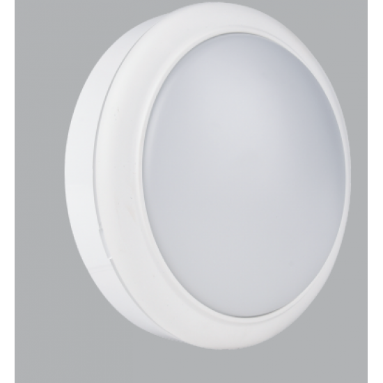 15W LED Daylight 6500K Round White Trim Bulkhead IP65 Waterproof