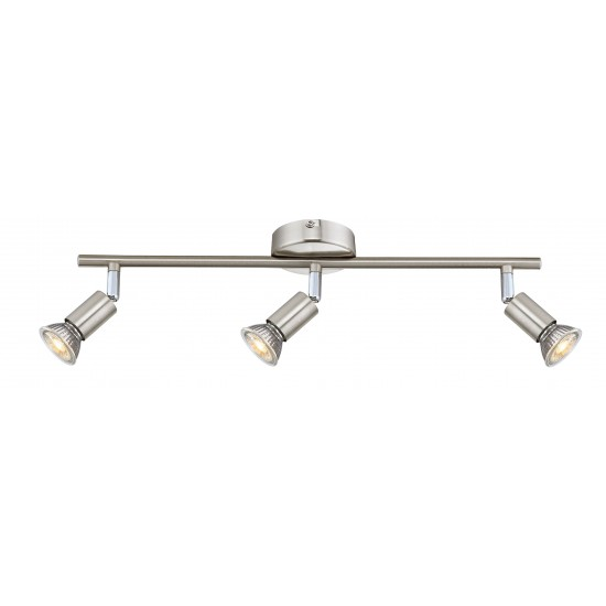 GU10 Easy Fit 3 Way Adjustable Ceiling Straight Bar Light Fixture