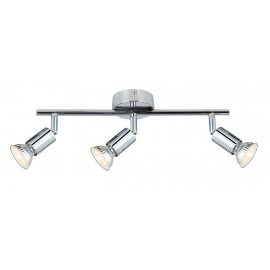 GU10 Easy Fit 3 Way Adjustable Ceiling Straight Bar Light Fixture