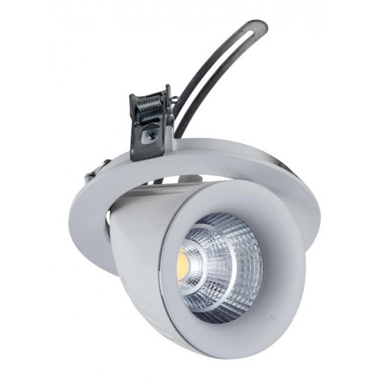 20W Dimmable Form Tilt Recessed Indoor Ceiling Down Light White Finish