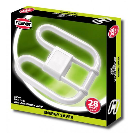 Eveready 2D Bulkhead  4 pin Energy Saver Low Energy Bulb 28W 3500k
