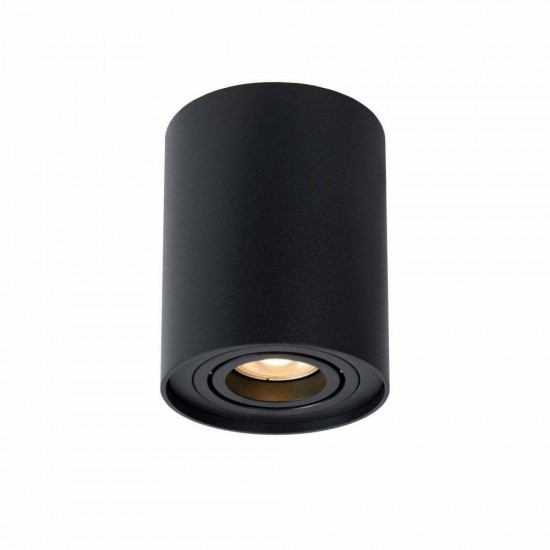 Modern Matt Black Aluminium GU10 Ceiling Surface Mount Tilt Downlight Spotlight
