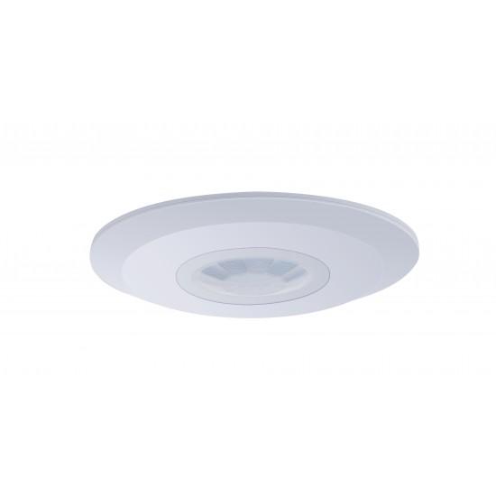 360 Degree Surface Mount PIR Light Motion Sensor Switch Slimline White