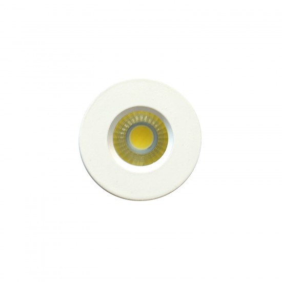 White 3W LED Downlight recessed round by UKEW®
