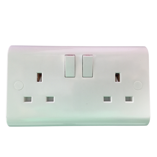 DOUBLE 13A SWITCH SOCKET Plastic white- UKEW™