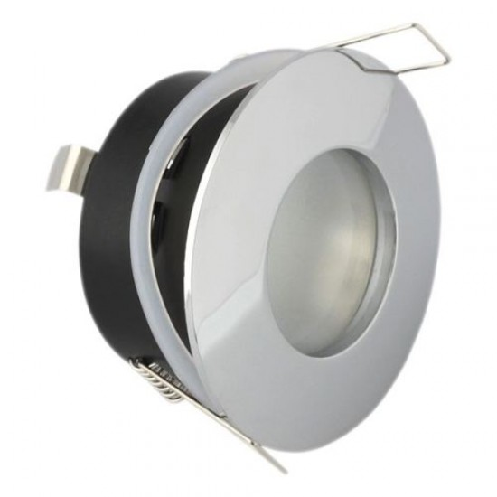 Bathroom Round Downlight IP65 Waterproof Rated Spotlight GU10 Polished Chrome
