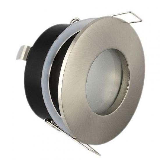 Bathroom Round Downlight IP44 Waterproof Rated Spotlight GU10 Satin Nickel