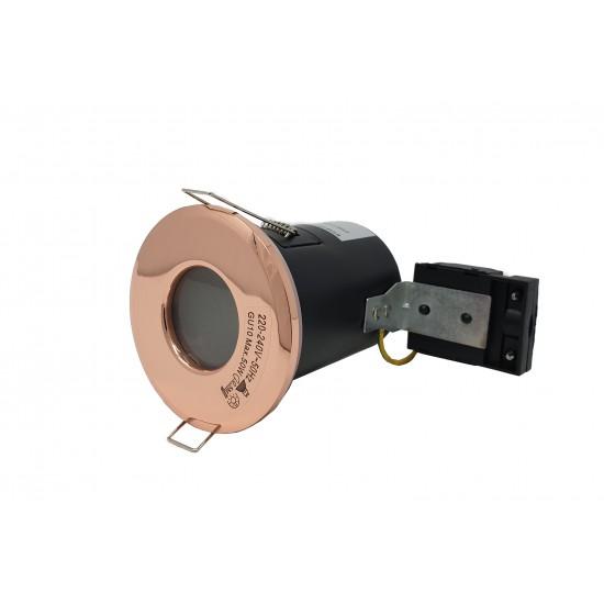 IP65 Bathroom Fire Rated GU10 Recessed Downlight Spotlight - Rose Gold
