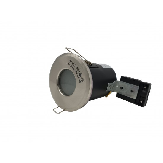 IP65 Bathroom Fire Rated GU10 Recessed Downlight Spotlight - Satin