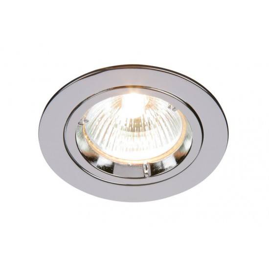Fixed Twist Lock GU10 Ceiling Spotlight Downlight Polished Chrome Finish UKEW®
