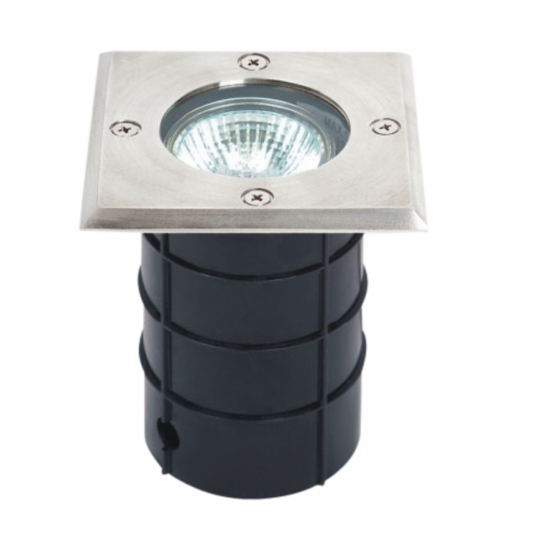 IP67 GU10 Square S/Steel 316 Grade Walkover / Drive over Ground Light