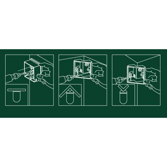 IP44 Outdoor 360° PIR or Photocell Motion Sensor Black UKEW®
