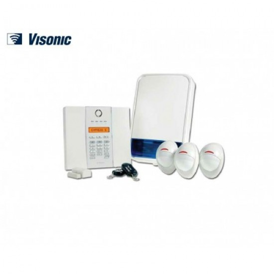 Ultra-compact Wireless Security Visonic Powermax Express E Kit Fully Supervised