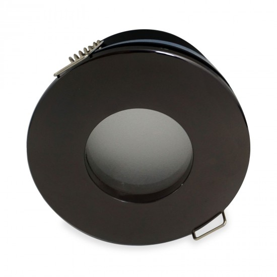 Bathroom Round Downlight IP65 Waterproof Rated Spotlight GU10 Black Chrome
