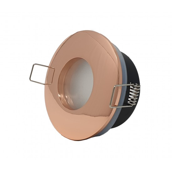 Bathroom Round Downlight IP65 Waterproof Rated Spotlight GU10 Rose Gold