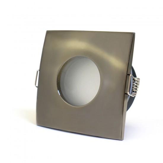 Bathroom Square Downlight IP44 Waterproof Rated Spotlight GU10 Black Chrome
