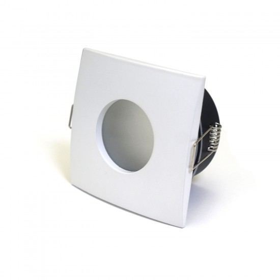 Bathroom Square Downlight IP44 Waterproof Rated Spotlight GU10 Matte White