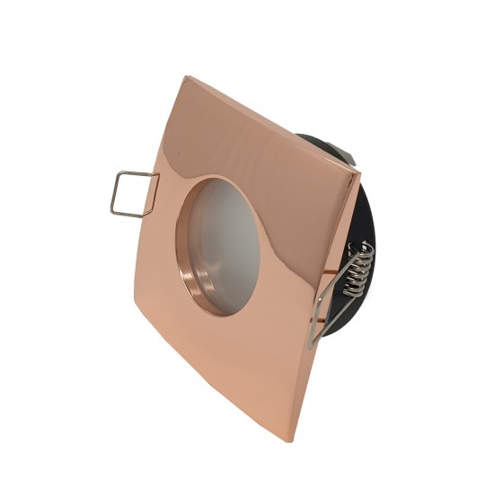 Bathroom Square Downlight IP65 Waterproof Rated Spotlight GU10 Rose Gold