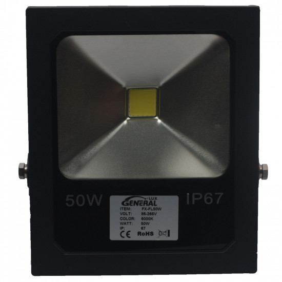Commercial 50W LED Security Floodlight Cool White 6000K IP67 Weatherproof