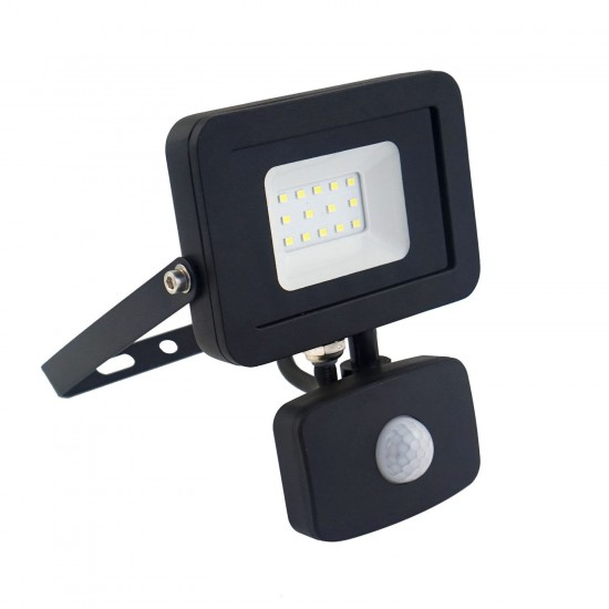 10W Led Slim Powerful Security Floodlight IP65 Outdoor Garden Light Daylight 6500K