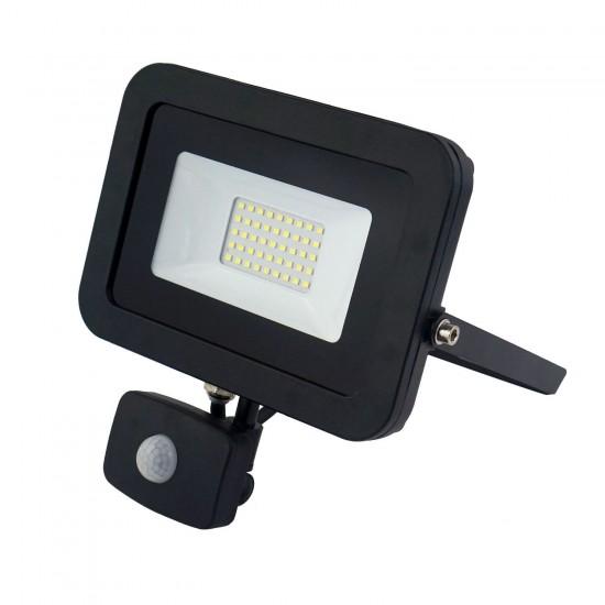 30W Led Slim Powerful Security Floodlight IP65 Outdoor Garden Light Daylight 6500K
