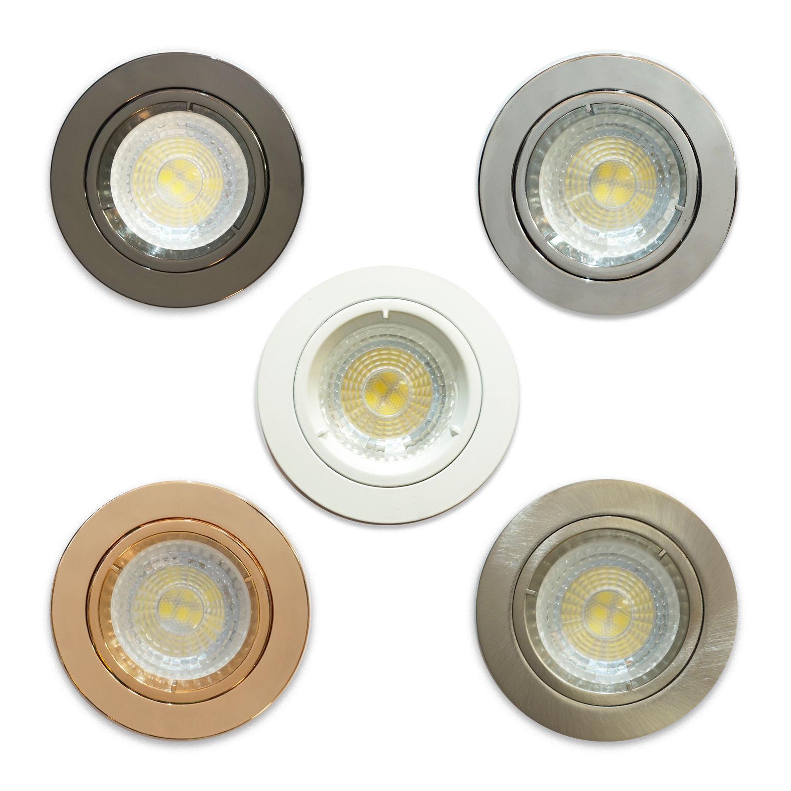Gu10 Led Recessed Twist Lock Lights Ceiling Spots Ceiling Downlight Spotlights