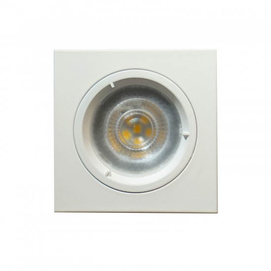GU10 Square Fixed Recessed Downlight Spotlight White